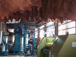 Interior de las Instalaciones de Curtidos Badía en Igualada (Barcelona).