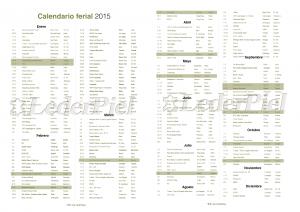 Calendario de ferias de la industria del calzado y la piel para el 2015