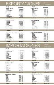 Balanza comercial de la piel: año 2016