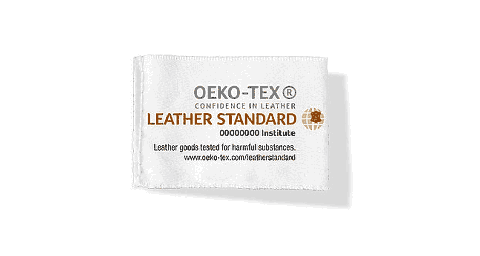etiqueta Leather Standard by Oeko-Tex